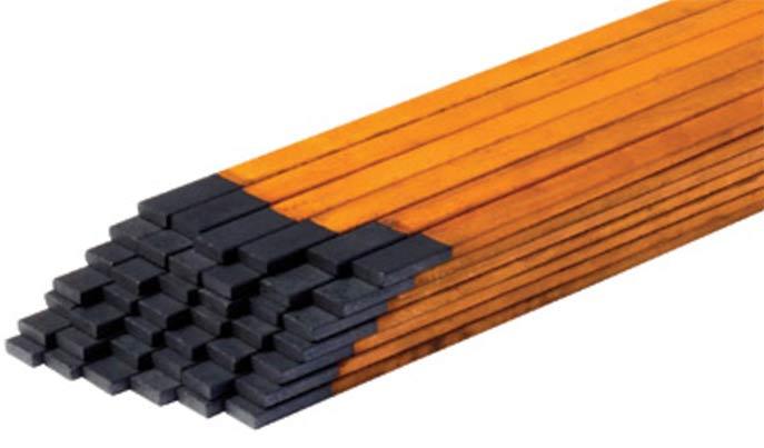 прямоугольные угольные стержни