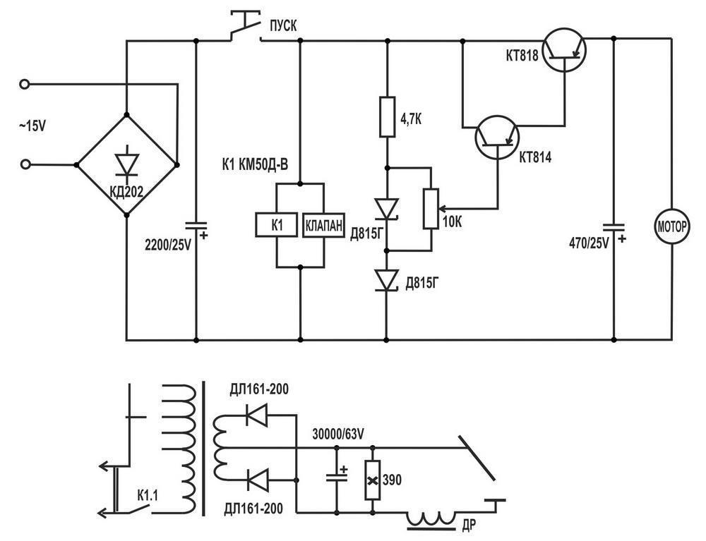 регулятор тока - схема аппарата