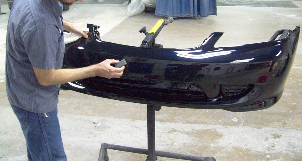 подготовка пластикового бампера